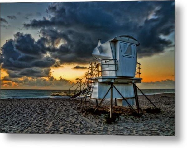 Sunrise On Vero Beach Hdr 1 Metal Print