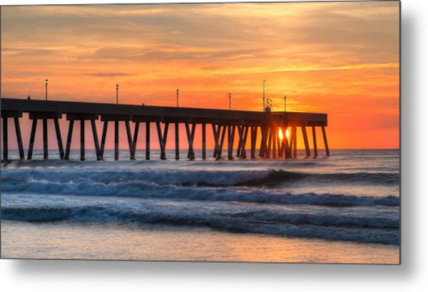 Sunrise On Wrightsville Beach Nc Metal Print
