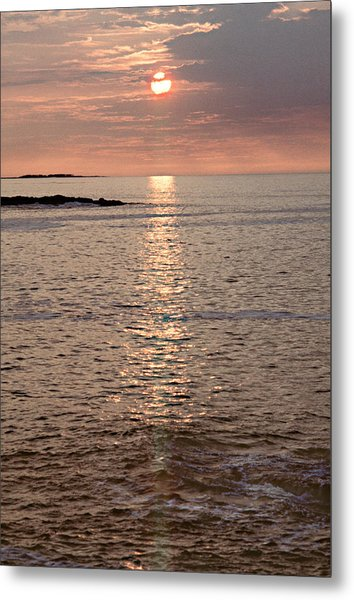Sunrise Otter Cliffs Metal Print by Peter J Sucy