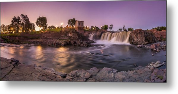 Sunrise Over Falls Park Metal Print