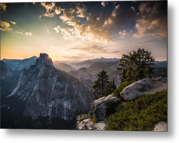 Sunrise Over Half Dome At Glacier Point Metal Print