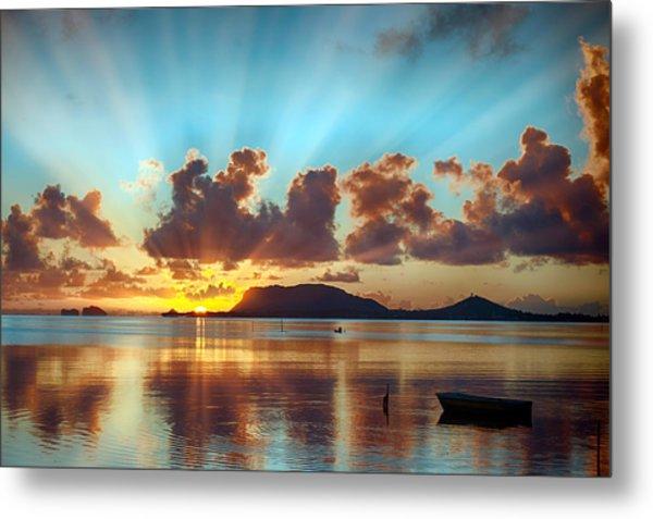 Sunrise Over Marine Corps Base Hawaii Metal Print