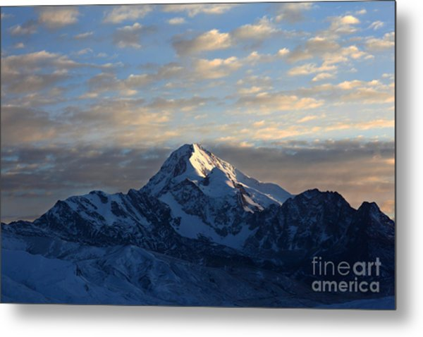 Sunrise Over Mt Huayna Potosi Metal Print