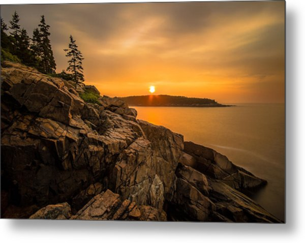 Sunrise Over Otter Cove Metal Print