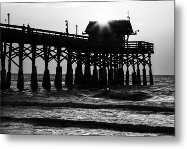 Sunrise Over Pier Metal Print
