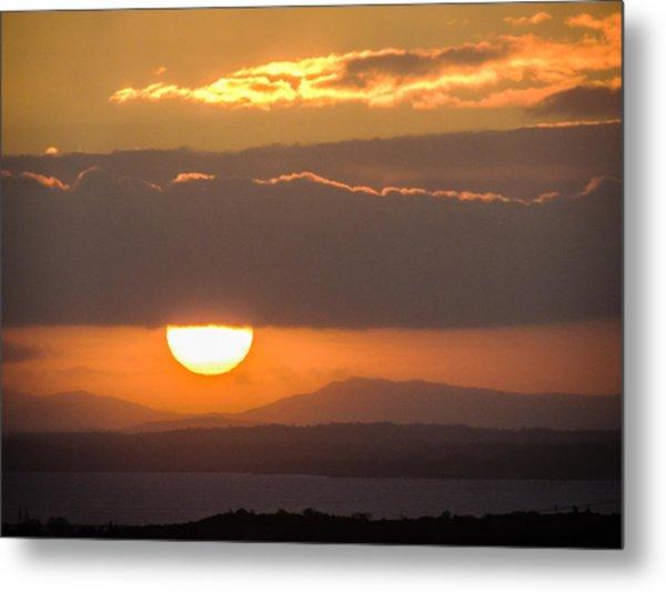 Sunrise Over River Shannon Metal Print