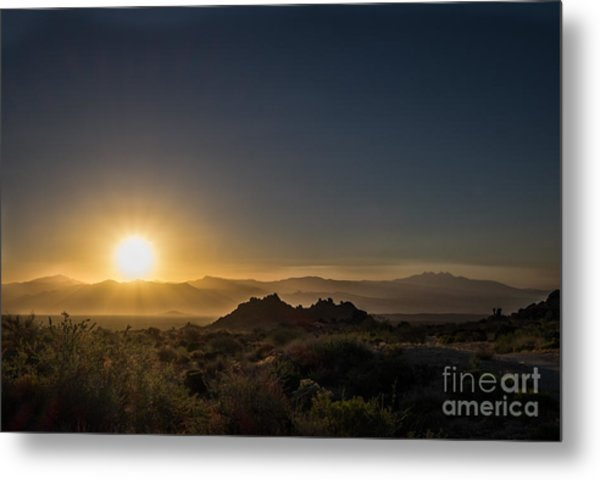 Sunrise Over Rock Knob Metal Print
