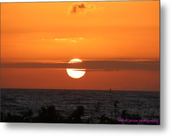 Sunrise Over The Atlantic Metal Print