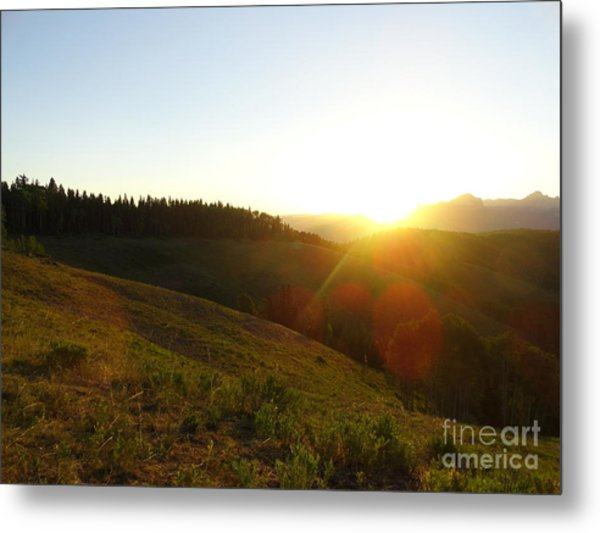 Sunrise Over The Cimarrons Metal Print