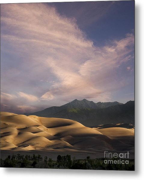 Sunrise Over The Great Sand Dunes Metal Print by Keith Kapple