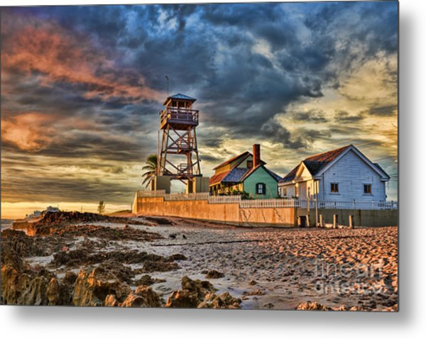 Sunrise Over The House Of Refuge On Hutchinson Island Metal Print