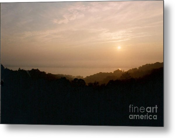 Sunrise Over The Illinois River Valley Metal Print