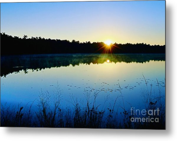 Sunrise Over The Lake Metal Print
