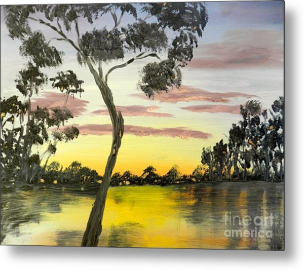 Sunrise Over The Murray River At Lowson South Australia Metal Print
