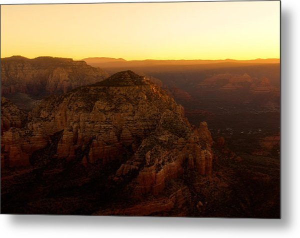 Sunrise Over The Red Rocks Of Sedona Metal Print
