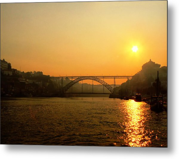Sunrise Over The River Metal Print