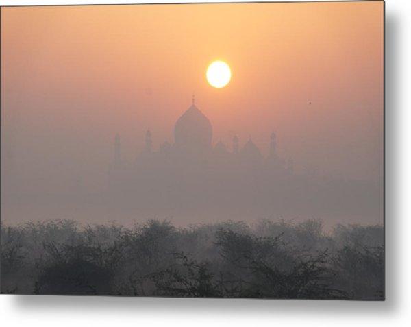 Sunrise Over The Taj Metal Print