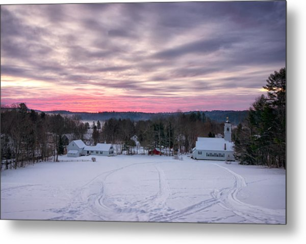 Sunrise Over The Village Metal Print