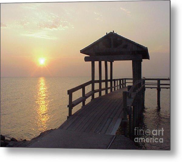 Sunrise Pier 1 Metal Print