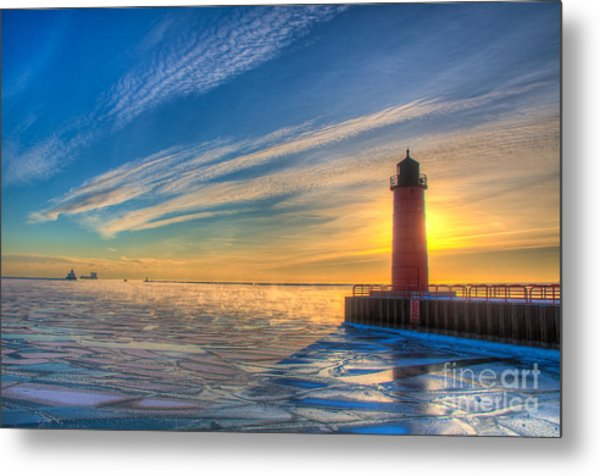 Sunrise Pierhead Metal Print