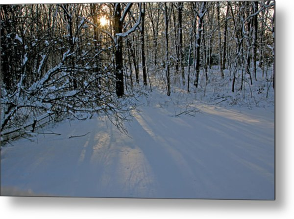 Sunrise Reflected On Snow Metal Print