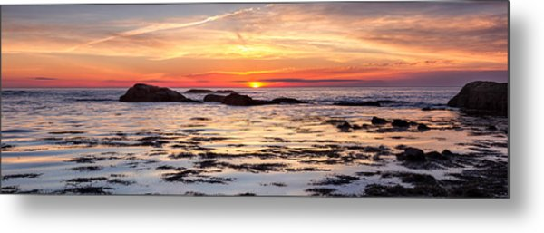 Metal Print featuring the photograph Sunrise Silhouettes Odiorne Point by Jeff Sinon