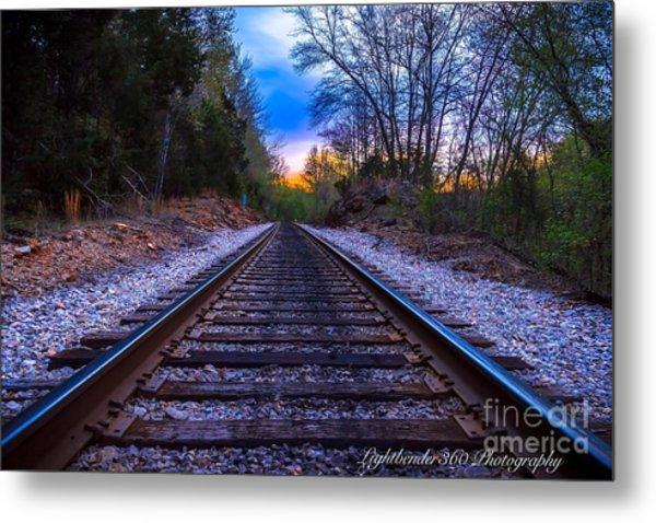 Sunrise Tracks Metal Print
