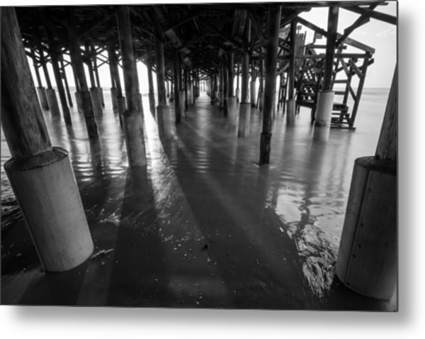 Sunrise Under Pier Metal Print