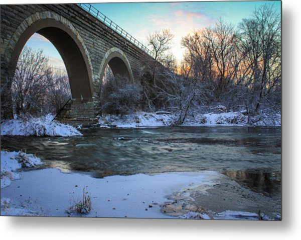 Sunrise Under The Bridge Metal Print