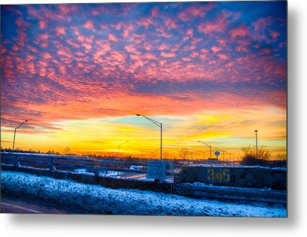Sunset 1-3-14 Northern Illinois 001 Metal Print by Michael  Bennett