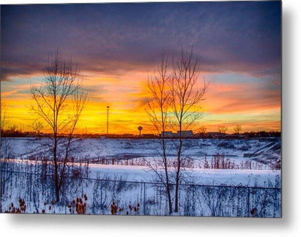 Sunset 1-3-14 Northern Illinois 003 Metal Print by Michael  Bennett