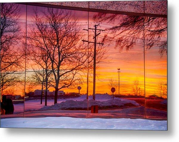 Sunset 1-3-14 Northern Illinois 005 Metal Print by Michael  Bennett