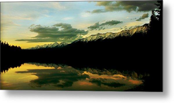 Sunset 1 Rainy Lake Metal Print