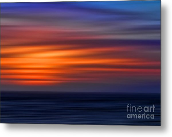 Sunset Abstract Metal Print by Clare VanderVeen