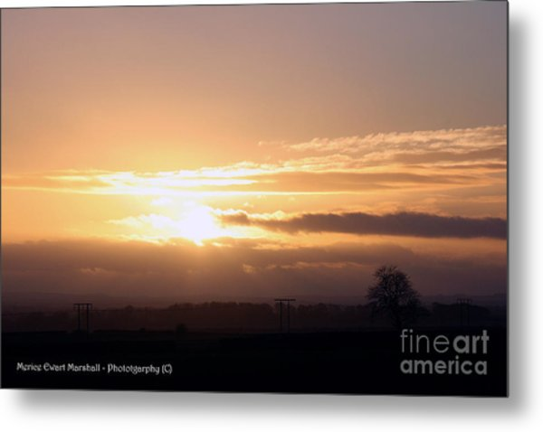 Sunset Across The Wolds Metal Print by Merice Ewart