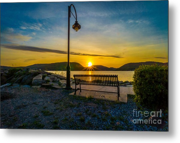 Sunset Along The Hudson Valley Metal Print