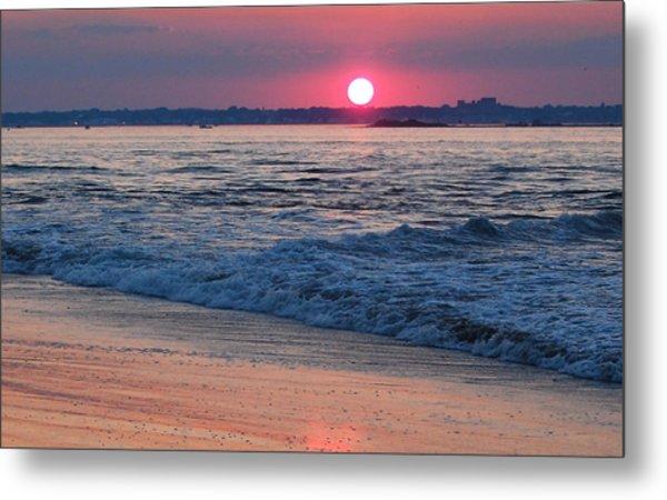 Sunset And Beach Metal Print
