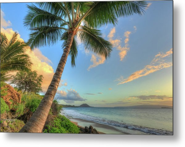 Sunset At Beach, Wailea, Maui, Hawaii Metal Print by Stuart Westmorland