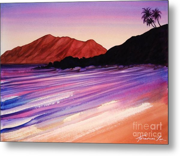 Sunset At Black Rock Maui Metal Print