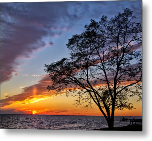 Sunset At Chesapeake Beach Metal Print