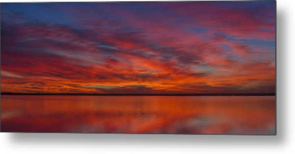 Sunset At Cheyenne Bottoms 1 Metal Print