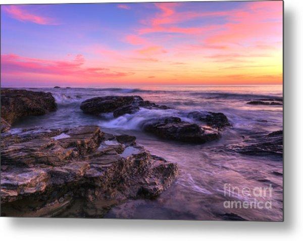 Sunset At Crystal Cove Metal Print by Eddie Yerkish