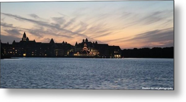Sunset At Disney Metal Print