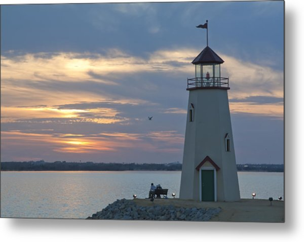 Sunset At East Wharf Metal Print