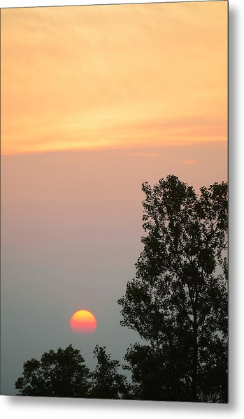 Sunset At Forks Of The Credit Park Metal Print
