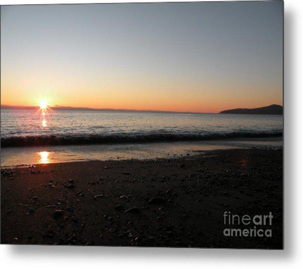 Sunset At Gordons Beach Metal Print by Val Carosella