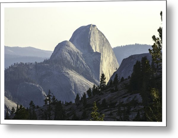 Sunset At Half Dome From Olmsted Pt Metal Print