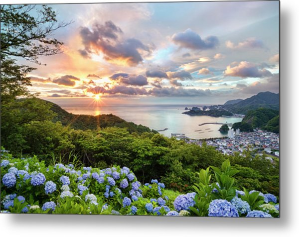 Sunset At Hydrangea Hills Metal Print by Tommy Tsutsui