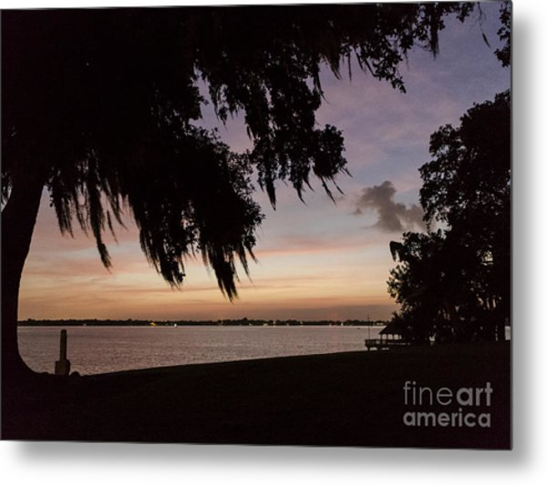 Sunset At Jefferson Island Metal Print by Kelly Morvant