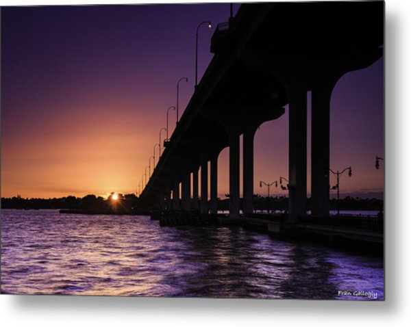 Sunset At Jensen Beach Metal Print